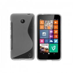 Silikon etui za Nokia Lumia 630/635,prozorna in mat bela barva