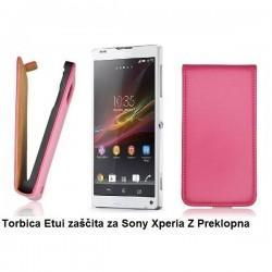 Torbica za Sony Xperia Z Preklopna ,Pink