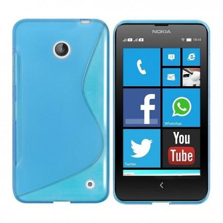 Silikon etui za Nokia Lumia 630/635,modra barva,motiv S+Folija ekrana