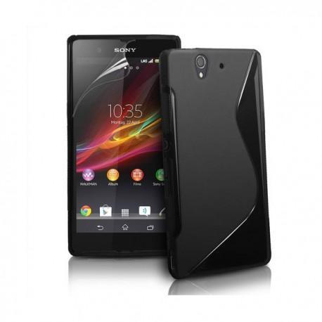 Silikon etui za Sony Xperia Z +Folija ,Črna barva