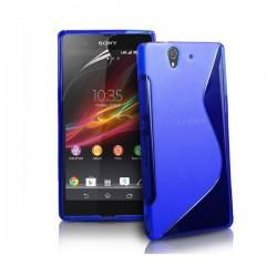 Silikon etui za Sony Xperia Z +Folija ,Modra barva