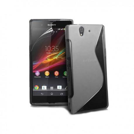 Silikon etui za Sony Xperia Z +Folija ,Transparent barva