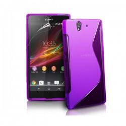 Silikon etui za Sony Xperia Z +Folija ,Viola barva