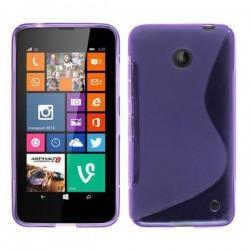 Silikon etui za Nokia Lumia 630/635,vijola barva,motiv S+folija ekrana