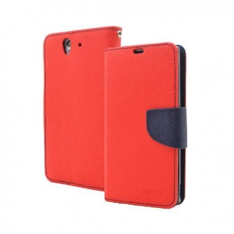 Torbica za Sony Xperia Z ,Rdeča/Modra  barva Preklopna