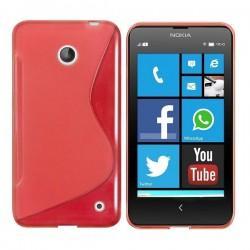 Silikon etui za Nokia Lumia 630/635,rdeča barva,motiv S+folija ekrana