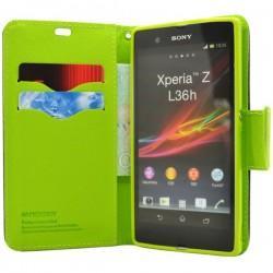 Torbica za Sony Xperia Z ,Modra/Limona  barva Preklopna
