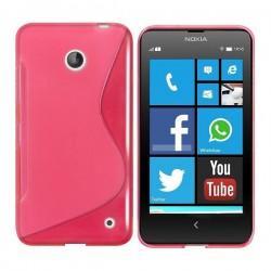 Silikon etui za Nokia Lumia 630/635,pink barva,motiv S+folija ekrana