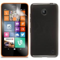 Silikon etui za Nokia Lumia 630/635,prozorno siva barva+folija ekrana