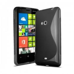 Silikon etui za Nokia Lumia 625,črna barva,motiv S+folija ekrana