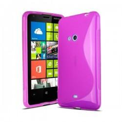 Silikon etui za Nokia Lumia 625,pink barva,motiv S+folija zaslona