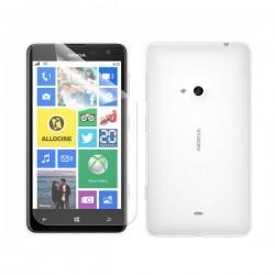 Silikon etui za Nokia Lumia 625,prozorna mat bela barva+folija ekrana