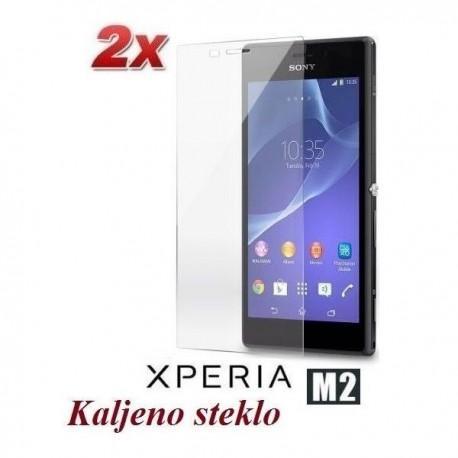Zaščitno kaljeno steklo za Sony Xperia M2 Trdota 9H, 0,3 mm Duo pack
