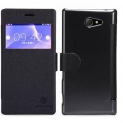 Torbica za Sony Xperia M2 S-View Črna barva+Folija ekrana