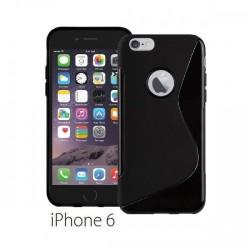 Silikon etui za Apple iPhone 6 (4.7) TPU +Folija ekrana Črna barva