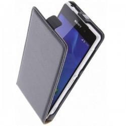Preklopna Torbica za Sony Xperia M2 Aqua +Zaščitna folija ekrana,Črna barva