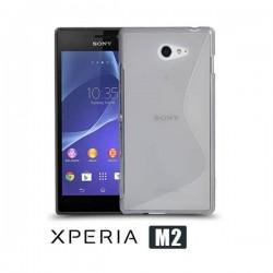 Silikon etui za Sony Xperia M2 +Folija ekrana,Transparent barva