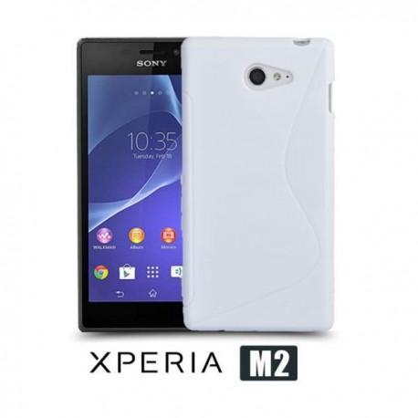 Silikon etui za Sony Xperia M2 +Folija ekrana, Bela barva
