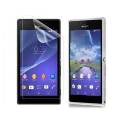 Silikon etui za Sony Xperia M2 Bela mat barva+folija ekrana