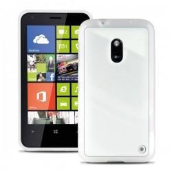 Etui za Nokia Lumia 620,prozoren z belimi robovi