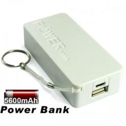 Prenosna Zunanja Baterija Power Bank 5600 mAh Univerzalna Bela barva