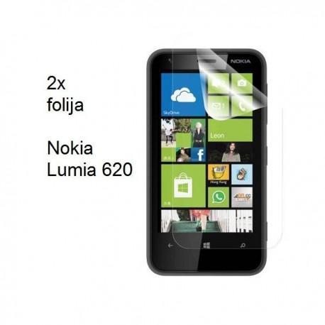 Zaščitna Folija za Nokia Lumia 620,paket 2 v 1