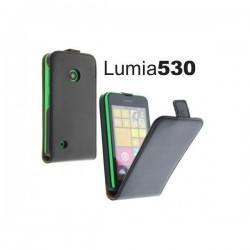 Torbica za Nokia Lumia 530,preklopna,črna barva+folija ekrana