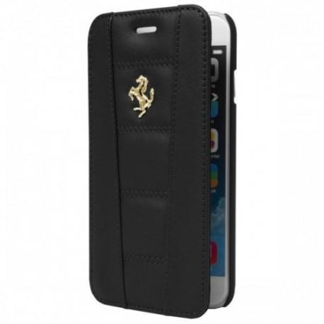 Preklopna Torbica za Apple iPhone 6 Ferrari Usnje Črna barva