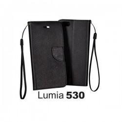 Torbica za Nokia Lumia 530,preklopna,črne barve