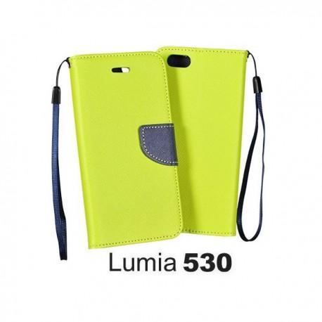 Torbica za Nokia Lumia 530,preklopna,limona barva
