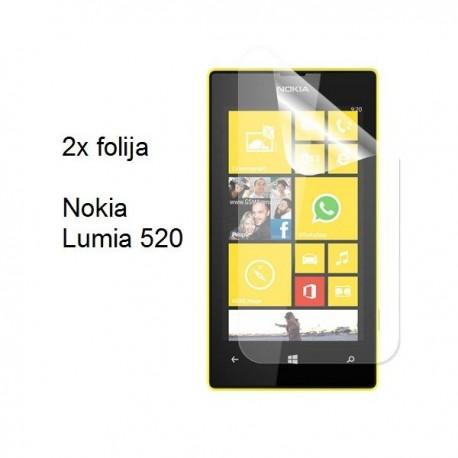 Zaščitna Folija za Nokia Lumia 520,paket 2 v 1