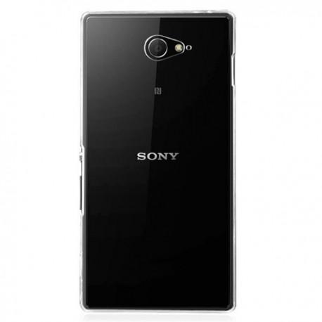 Silikon etui za Sony Xperia M2 +Folija ekrana TPU 0,3mm Transparent barva