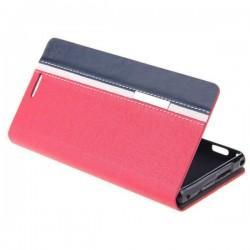 Preklopna Torbica za Sony Xperia M2 Rdeča,Modra barva