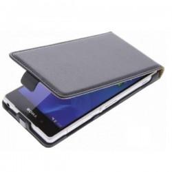 Preklopna Torbica za Sony Xperia M2 +Zaščitna folija ekrana,Črna barva