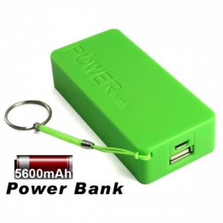 Prenosna Zunanja Baterija Power Bank 5600 mAh Univerzalna Zelena barva