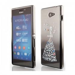 Silikon etui za Sony Xperia M2 +Folija ekrana Lady Črna