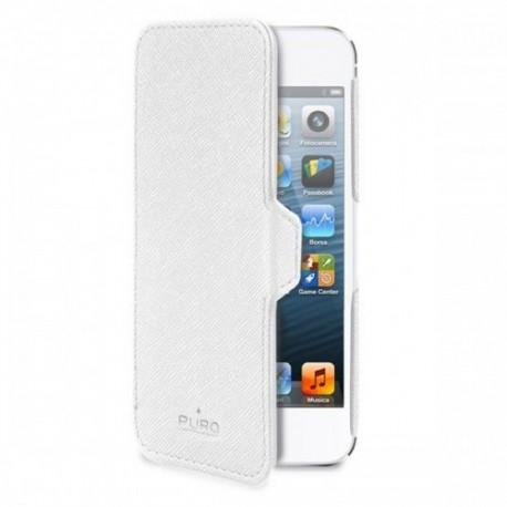 Etui za Apple iPhone 5 Book Ultra Slim case preklopna, bela barva