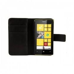 Torbica za Nokia Lumia 520,preklopna,črna barva