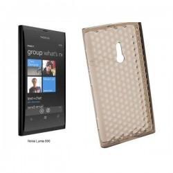 Silikon Etui za Nokia Lumia 800,prozorno sive barve,motiv diamant