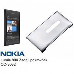 Etui za Nokia Lumia 800,srebrna barva,zadnji pokrovček,CC-3032