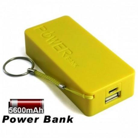 Prenosna Zunanja Baterija Power Bank 5600 mAh Univerzalna Rumena barva