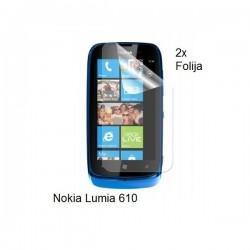 Zaščitna folija ekrana za Nokia Lumia 610,paket 2 v 1