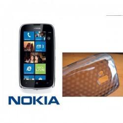Silikon Etui za Nokia Lumia 610,prozorna siva barva,motiv diamant