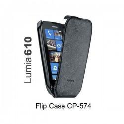 Torbica za Nokia Lumia 610,preklopna,črna barva,original Nokia CP-574