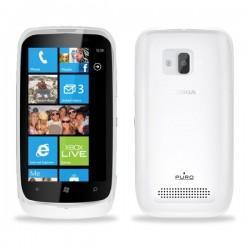 Silikon Etui za Nokia Lumia 610,prozorna mat bela barva,Puro