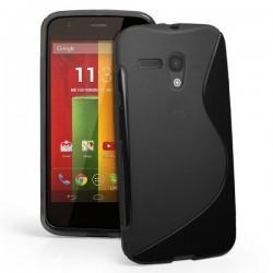 Silikon etui za Motorola MOTO G +Folija ekrana Črna barva