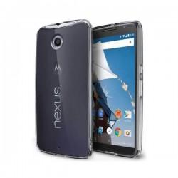 Silikon etui za Motorola Nexus 6 +Folija ekrana TPU 0,3mm Transparent barva