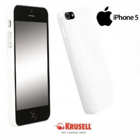 Etui za Apple iPhone 5/5S Zadnji pokrovček Krusell ColorCover, bele barve