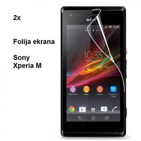 Zaščitna Folija ekrana za Sony Xperia M,paket 2 v 1