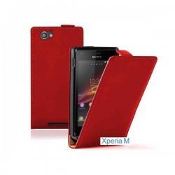 Torbica za Sony Xperia M,preklopna ,rdeča barva+folija ekrana